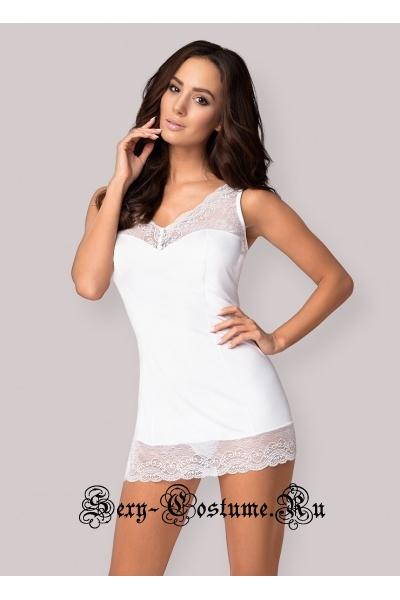 Сорочка белый obsessive miamor chemise