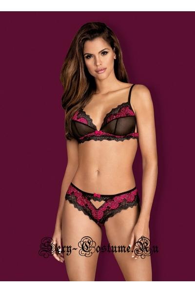 Комплект черный + розовый obsessive tulia set