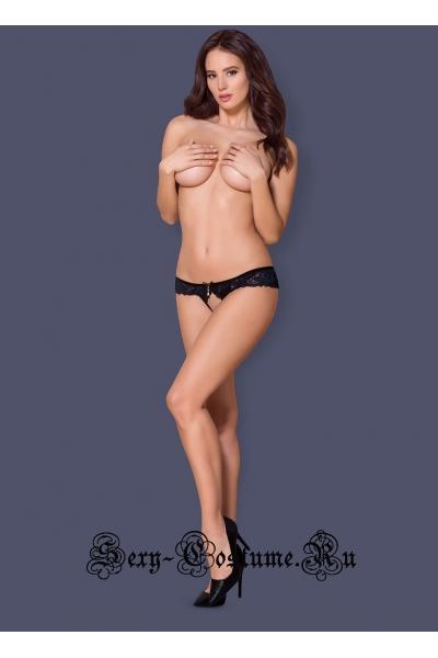 Трусики черный + синий obsessive 866 pac-1 crotchless panties