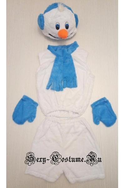 Детский костюм снеговик комплект из 4х предметов lu1112