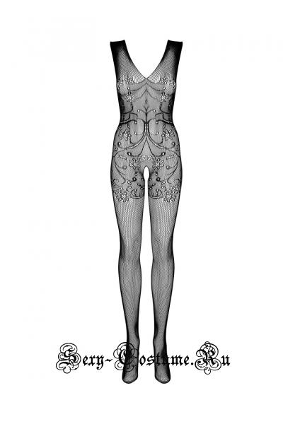 Эротическое бельё obsessive f234 bodystocking  черный