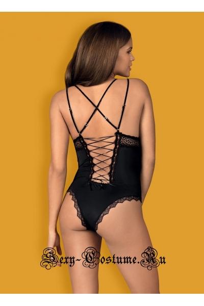 Чувственное боди черный с украшениями obsessive lolitte body