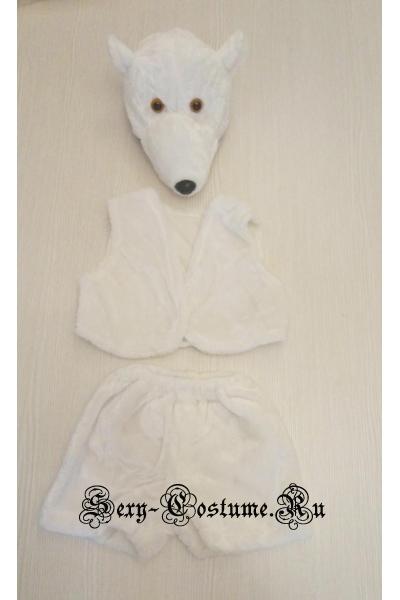 Детский костюм белый медведь для мальчиков lu1315