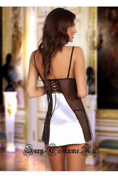 Сорочка белый с кружевными вставками beauty night michele chemise