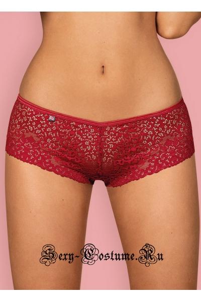 Шортики красные мягкой ткани obsessive lividia shorties