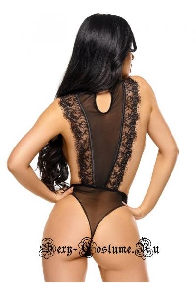 Полупрозрачное черное боди подчеркнет фигуру beauty night emiliana teddy