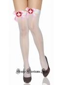 Чулки медсестры светло-розовый бант