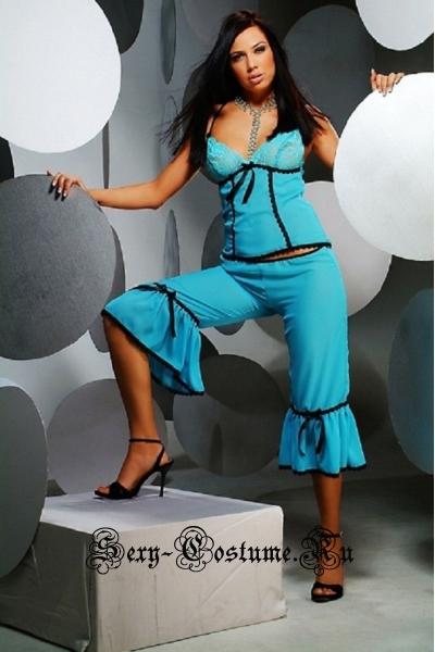 Комплект пижама из 2 частей голубой для дома anais alessandra set
