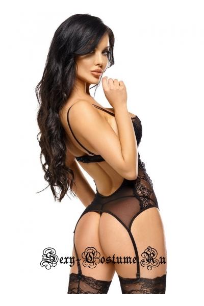 Корсет черный без вертикальных каркасов мягко обволакивает тело beauty night charlize corset