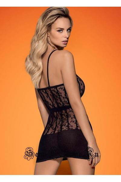 Прозрачное черное платье obsessive d 605 dress