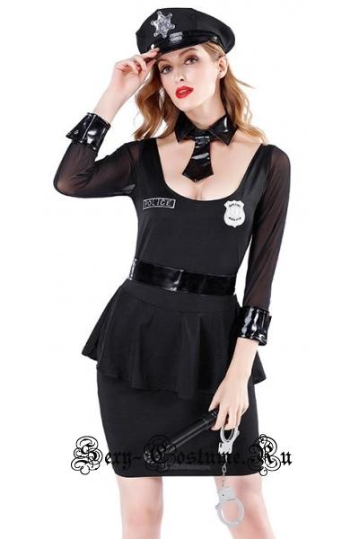 Черный элегантный полицейский m19465