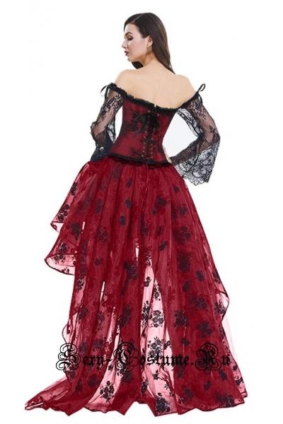 Красная принцессакорсетный костюм огонь m14920