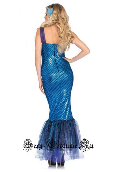 Синее платье русалочка m19623