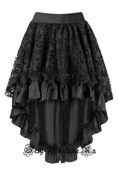 Черная юбка для кан-кана m8478
