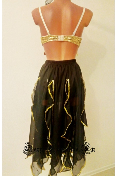 Восточная танцовщица черно-желтая lu1015-9
