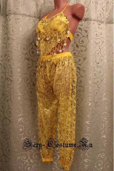 Восточная танцовщица желтая солнышко lu800-10