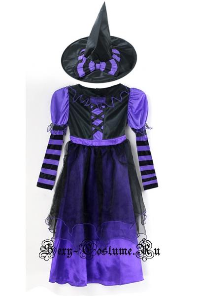 Темно-фиолетовая маленькая ведьмочка m5757