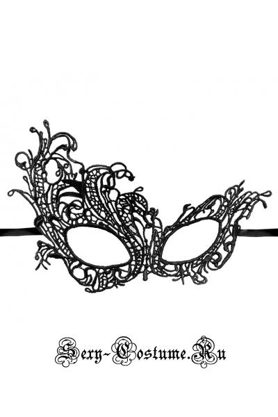 Черная тканевая маска на лицо m11768