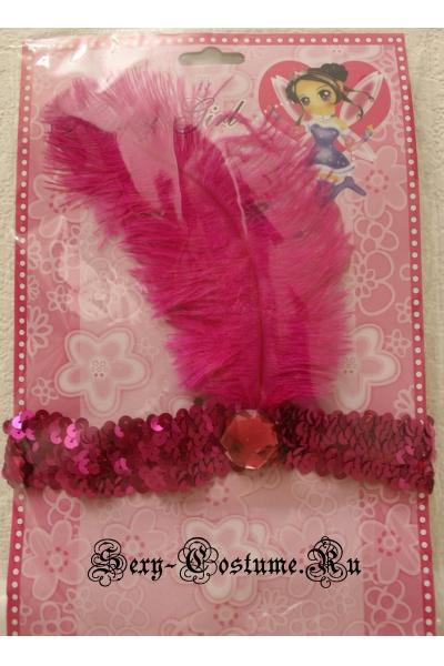 Насыщенный розовый повязка на голову для кан-кан lu044-3
