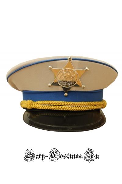 Белая парадная фуражка шерифаморяка уценка m12346