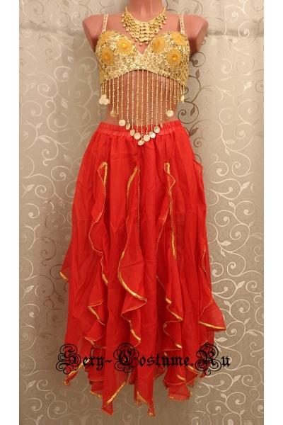 Восточная танцовщица с лифом красная lu1015-40