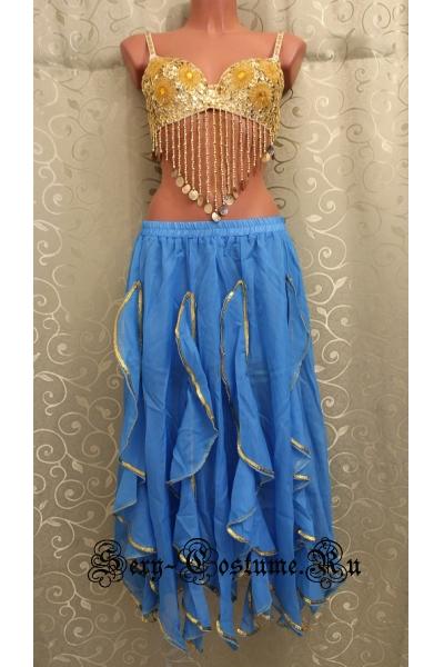 Восточная танцовщица голубая с лифом lu1015-20
