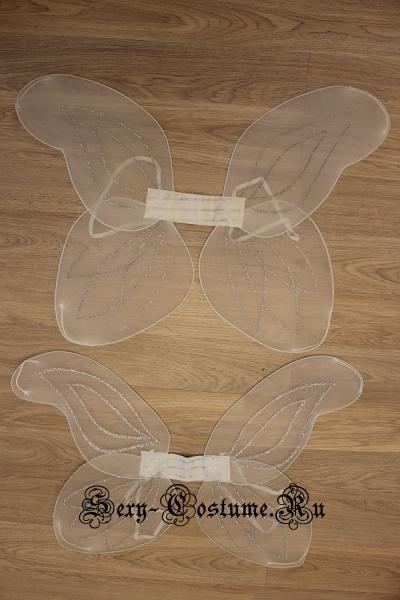 Крылья ангела белые капрон на проволоке cr-001