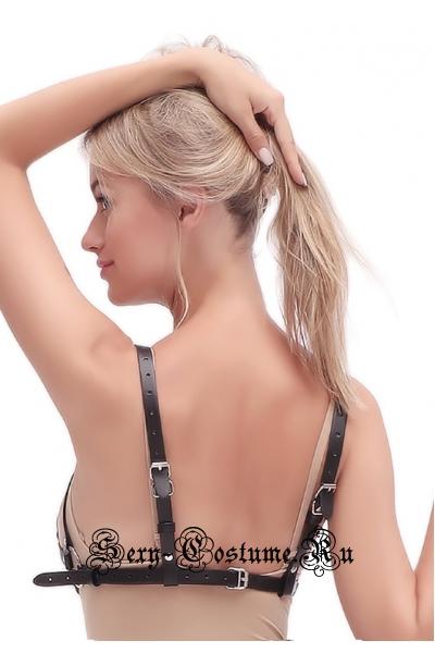 Женская сбруя на грудь экокожа nightks lu0250
