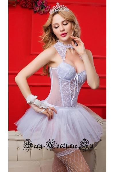 Белый комплект бюстье невеста nightks lu6132