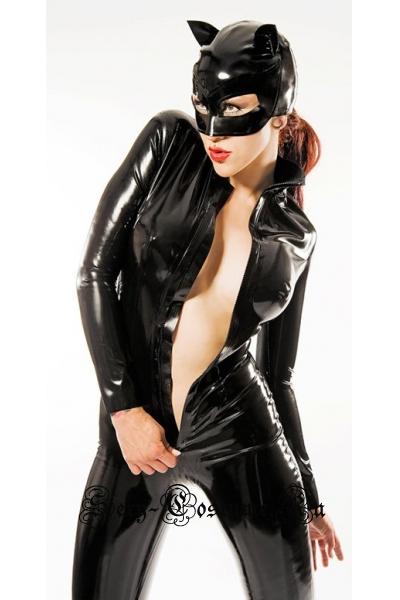 Черная винилова леди кошка w5813