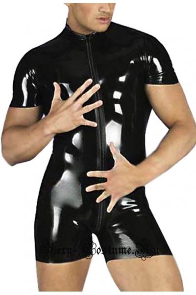 Мужское боди черного цвета w0450a