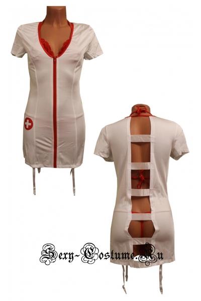 Знойная медсестра в халатике 2в1 nightks lu1812