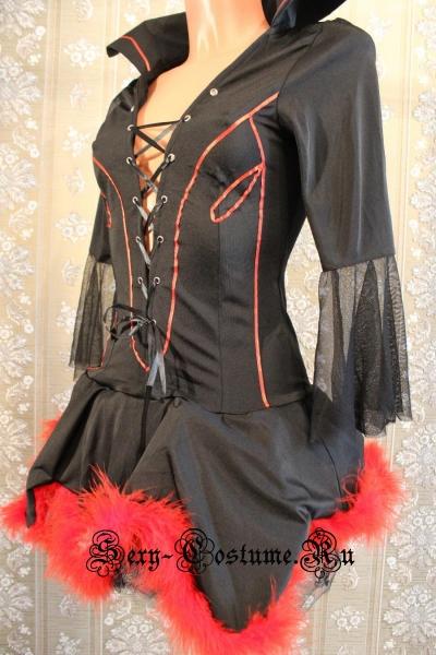 Дьяволенок-чертовка чёрное платье китай 0202