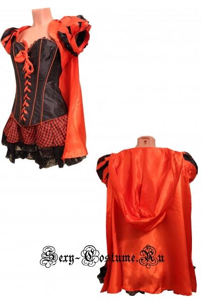 Красная шапочка подружка волка корсет черный n8489