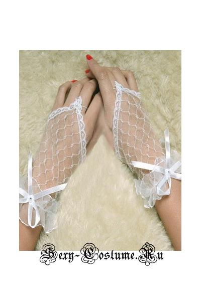 Перчатки белые прозрачные китай n7088-1
