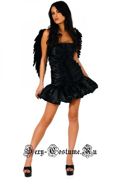 Падший ангелчерное платье уценка китай ан14
