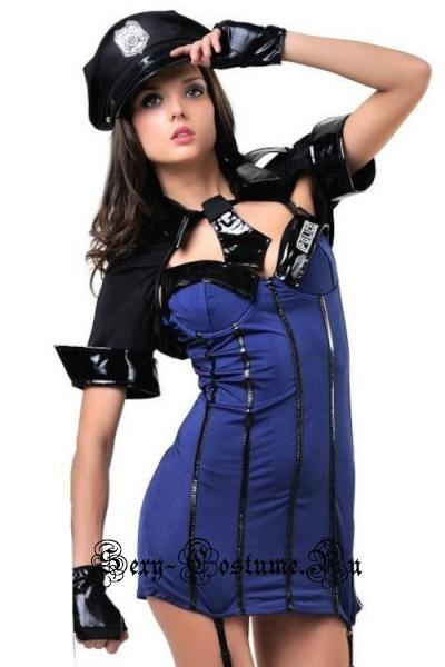 Синий полицейский коп сексуальный nightks lu9182/8803