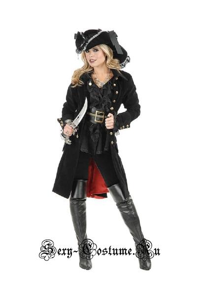 Униформа стильной пиратки + сабля p4675
