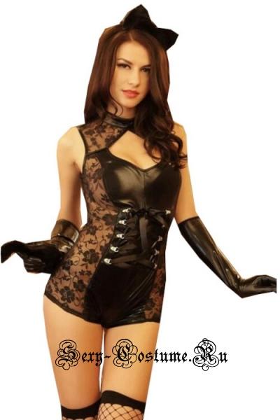 Кошечка catwoman + чулкиъ nightks lu8525