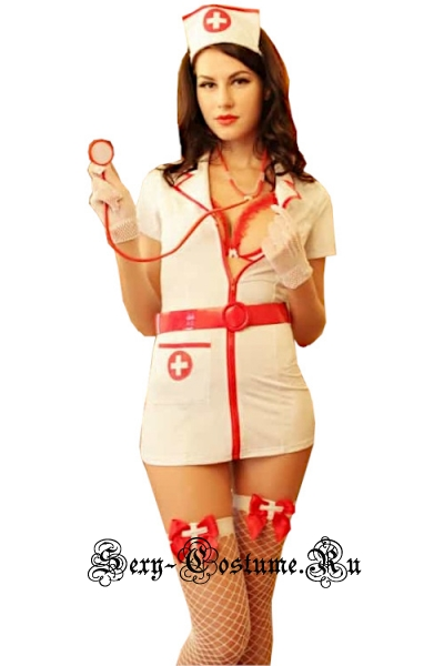 Красивая медсестра + стетоскоп + чулки nightks lu8505/9085