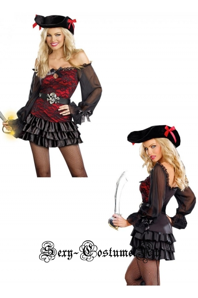 Пиратка черного черепа d5908