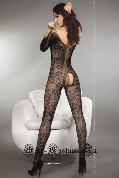 Капроновый комбинезон больших размеров livia corsetti zita black