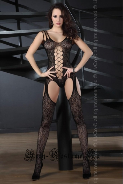 Капроновый комбинезон строгая дамоучительница livia corsetti turquoise