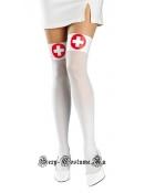 Чулки медсестры красные кресты