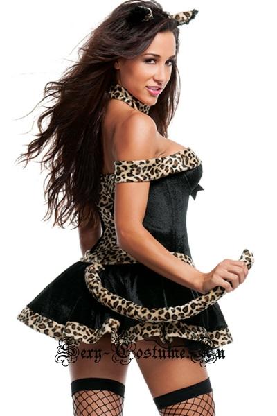 Кошечка леопард платье n8765