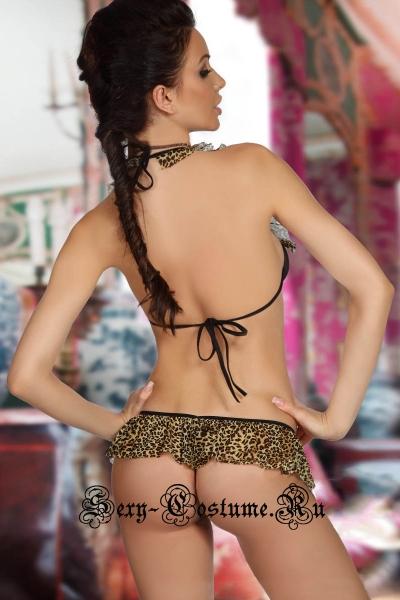 Открытое секси-боди леопардовое n3192