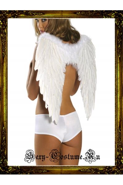 Белые крылья перьевые средние уценка китай gniw