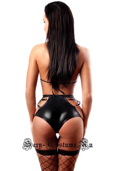 Черный комплект лиф + шортики n4259