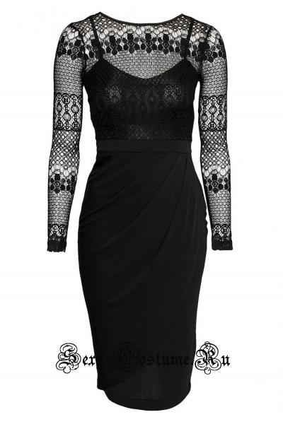 Черное платье клубное восхитительное n6864