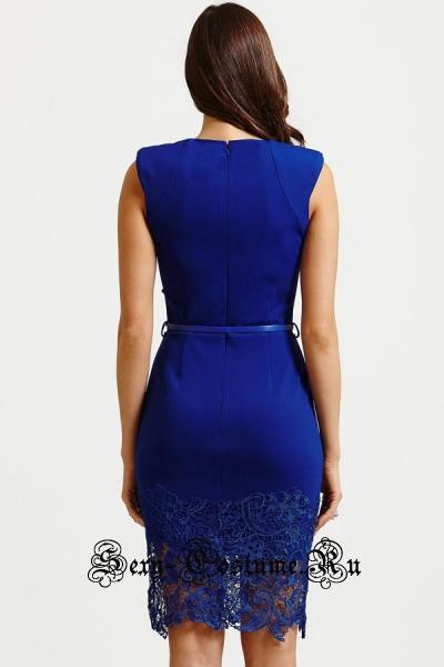 Голубое платье синее клубное n21965